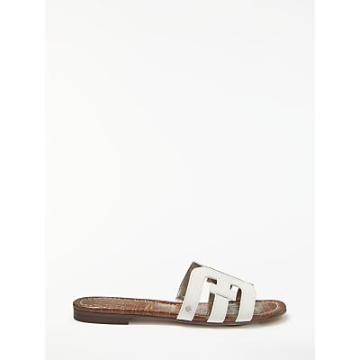 Sam Edelman Bay Slider Sandals, White Leather