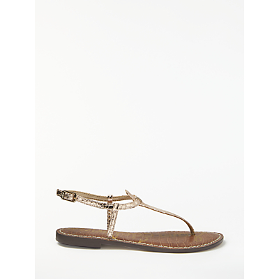 Sam Edelman Gigi Toe Post Sandals, Rose Gold Leather