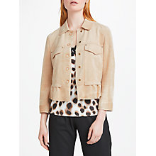 Buy Marc Cain Faux Suede Jacket, Sisal Online at johnlewis.com