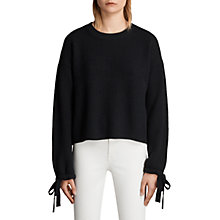 Buy AllSaints Sura Jumper, Black Online at johnlewis.com