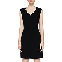 Buy Ted Baker Rubeyed Scallop Edge Shift Dress, Black Online at johnlewis.com