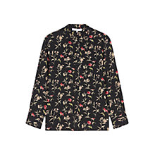 Buy Gerard Darel Chemise Silk Floral Blouse, Black Online at johnlewis.com