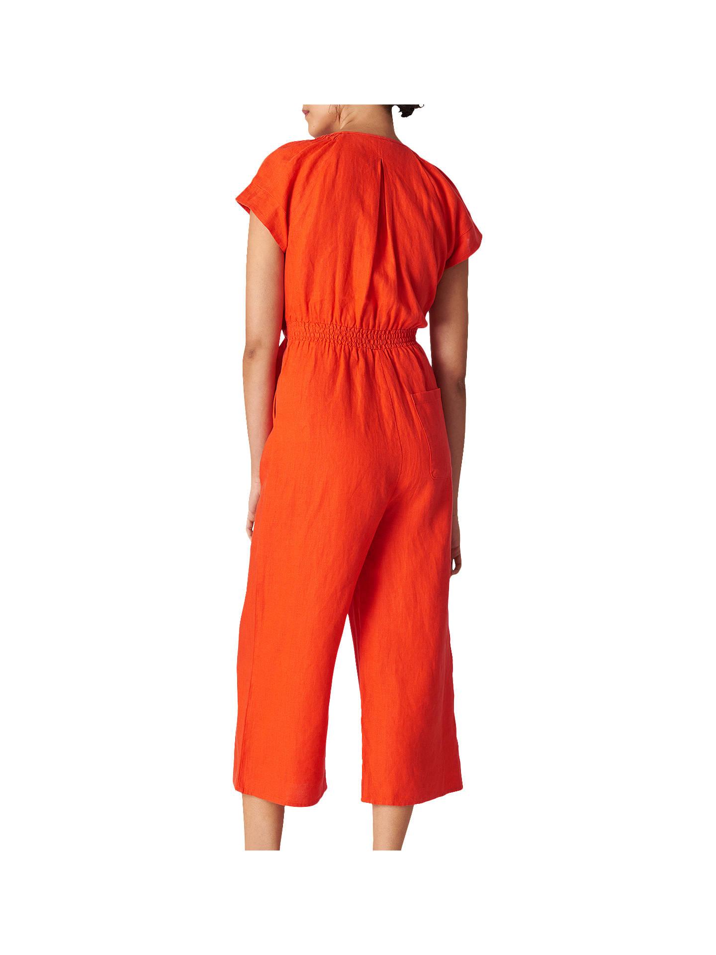 dc27ca2ba075 Whistles Etta Linen Jumpsuit at John Lewis   Partners