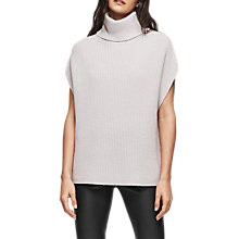 Buy Reiss Eve Sleeveless Wool Jumper, Grey Online at johnlewis.com
