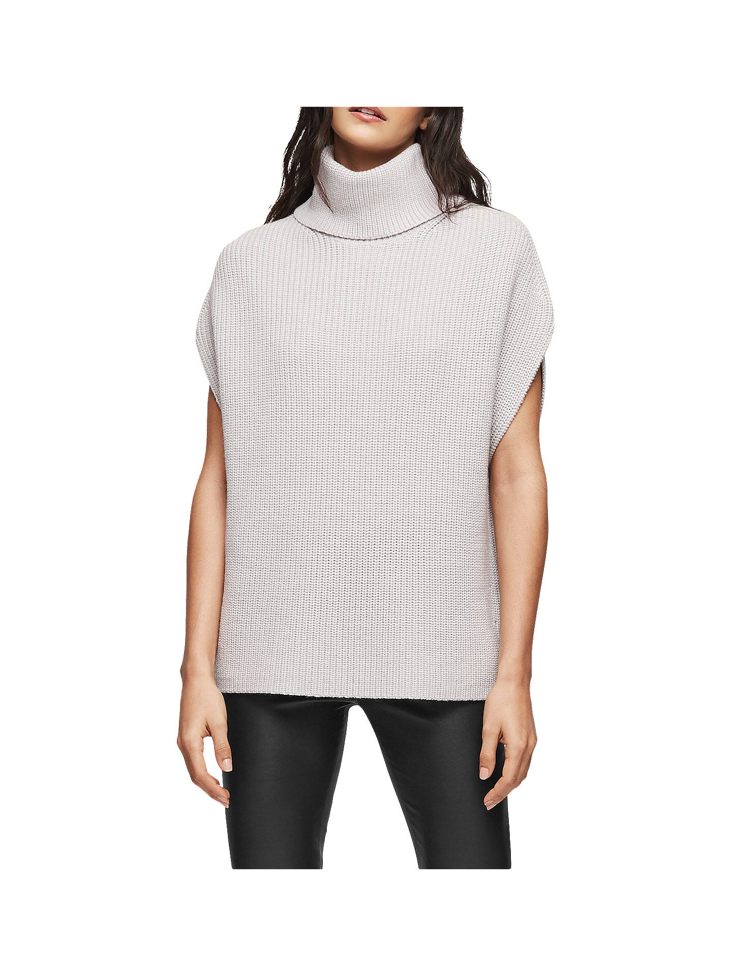 BuyReiss Eve Sleeveless Wool Jumper, Grey, XS Online at johnlewis.com