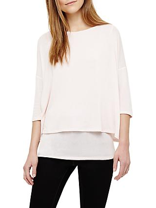 Phase Eight Debbie Double Layer Top, Pink