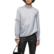 Buy Reiss Como Long Sleeve Blouse, Nordic Blue Online at johnlewis.com