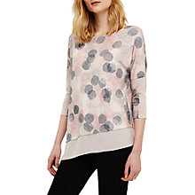 Buy Phase Eight Ediline Etched Spot Top, Ivory/Multi Online at johnlewis.com