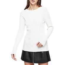 Buy Reiss Greca Wide Rib Crew Neck Top Online at johnlewis.com