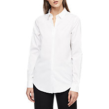 Buy Reiss Dee Open Collar Shirt, Off White Online at johnlewis.com