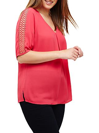 Studio 8 Fern V-Neck Top, Pink