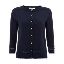 Buy White Stuff Palm Cotton Button Cardigan, Navy Online at johnlewis.com