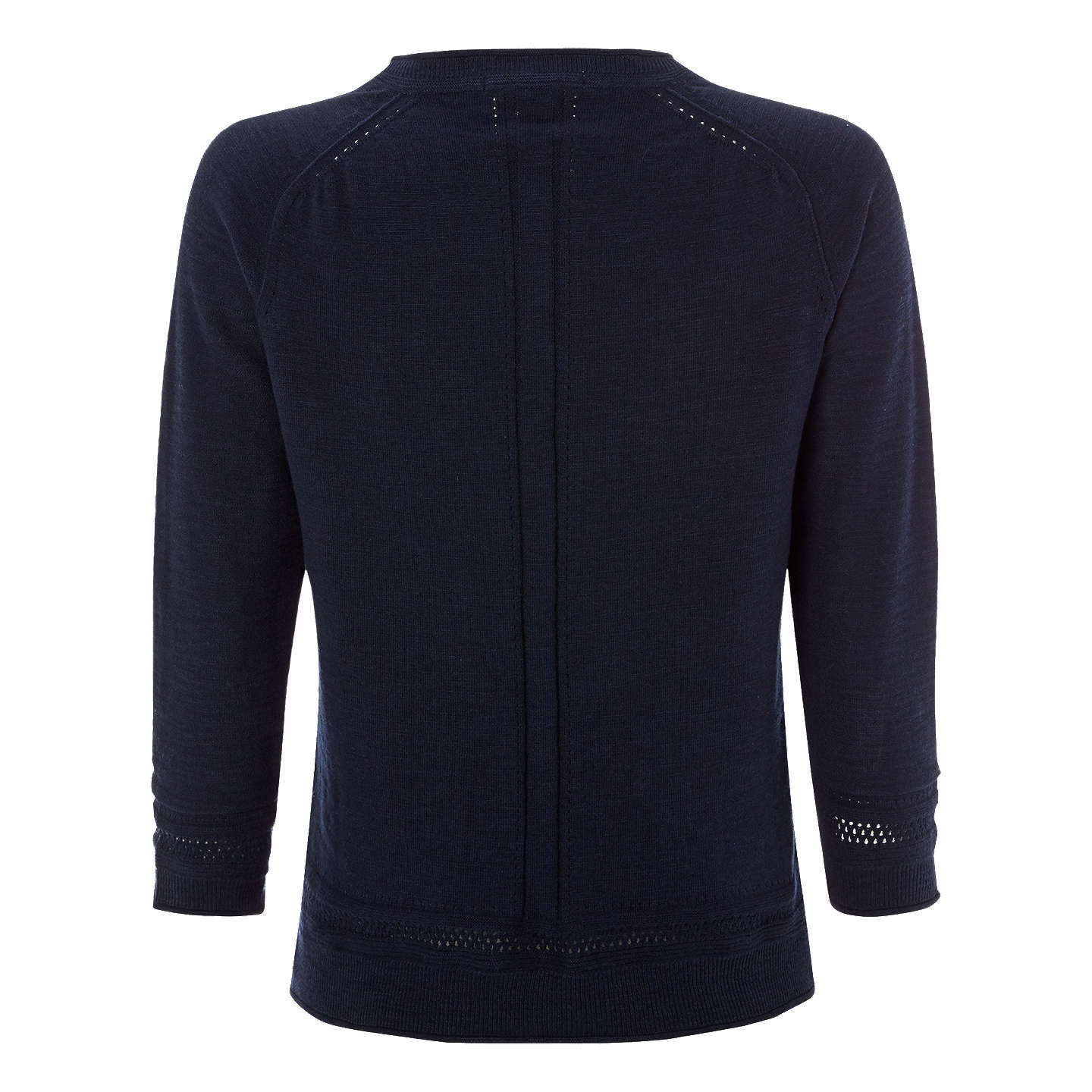 BuyWhite Stuff Palm Cotton Button Cardigan, Navy, 8 Online at johnlewis.com