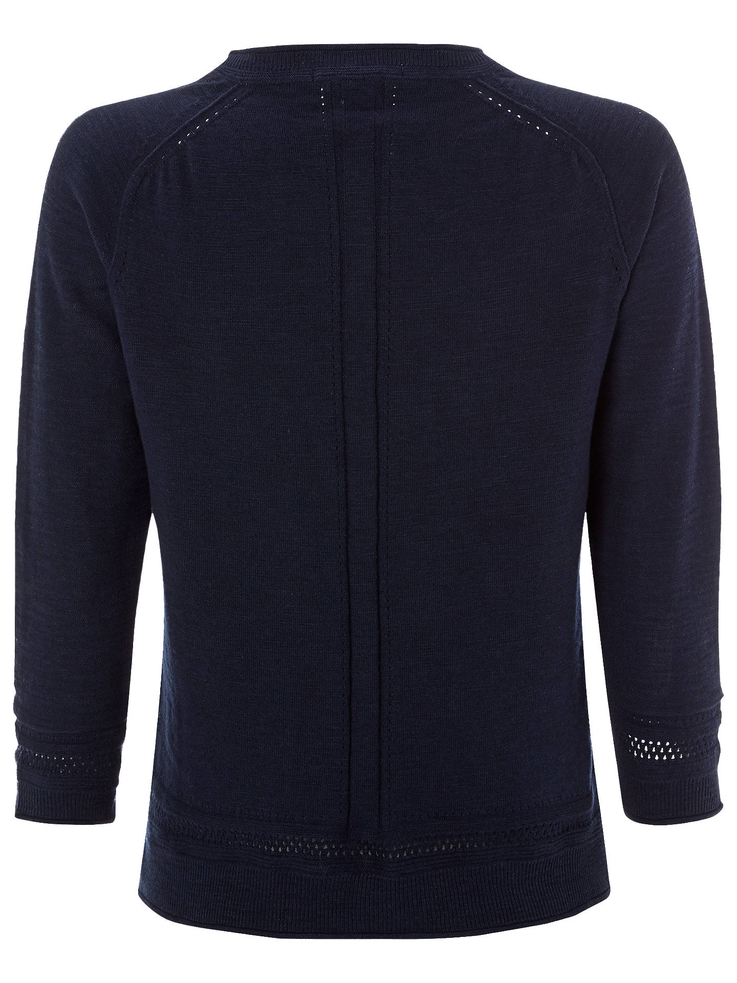 BuyWhite Stuff Palm Cotton Button Cardigan, Navy, 6 Online at johnlewis.com