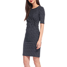 Buy Whistles Mini Tulip Jersey Dress, Navy/Multi Online at johnlewis.com