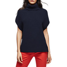 Buy Reiss Eve Sleeveless Knit Jumper, Navy Online at johnlewis.com
