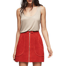 Buy Reiss Keaton Suede Mini Skirt Online at johnlewis.com