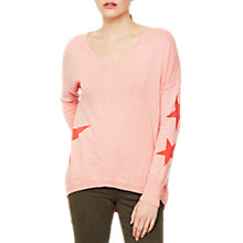 Buy Mint Velvet Star Cocoon Knit Jumper, Apricot Online at johnlewis.com