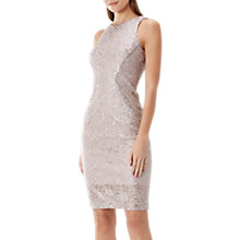 Buy Coast Ostara Metallic Dress, Rose Gold Online at johnlewis.com