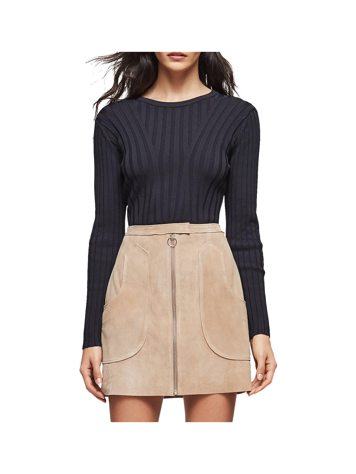 cbd385cc82 Buy Reiss Keaton Suede Mini Skirt, Sand, 6 Online at johnlewis.com ...