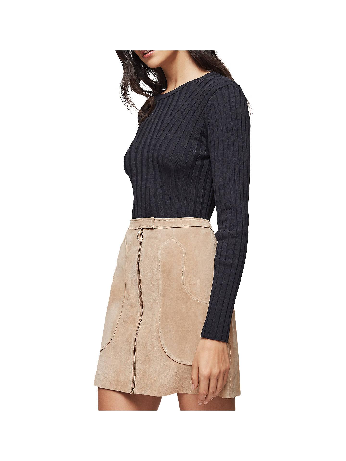 9df6abd61 ... Buy Reiss Keaton Suede Mini Skirt, Sand, 6 Online at johnlewis.com