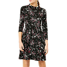Buy Warehouse Sprig Floral Dress, Black Pattern Online at johnlewis.com