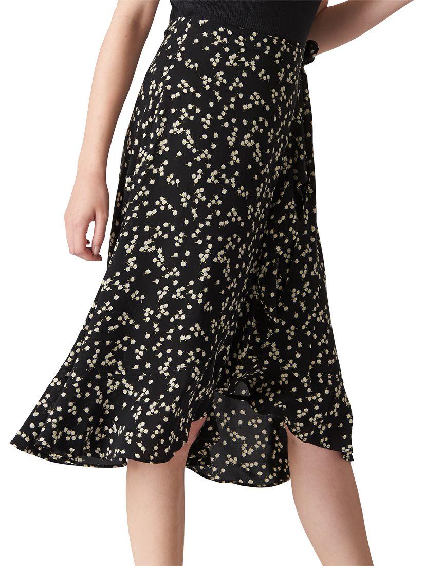 fd5caf4f93 Whistles Daisy Print Frill Wrap Skirt