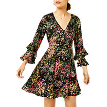 Buy Warehouse Wild Floral Dress, Black Pattern Online at johnlewis.com