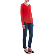Buy French Connection Classic Crepe Raglan Top Online at johnlewis.com