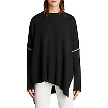 Buy AllSaints Rohe Jumper, Black Online at johnlewis.com