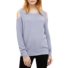 Buy Phase Eight Cortney Cold Shoulder Knit Jumper, Blue Online at johnlewis.com