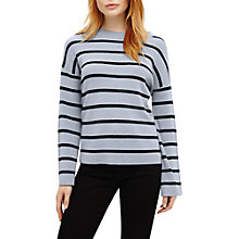 Buy Phase Eight Bernelle Stripe Flared Sleeve Jumper, Blue Online at johnlewis.com