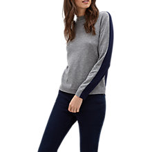 Buy Jaeger Bicolour Jumper, Grey/Navy Online at johnlewis.com