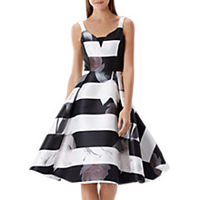 Buy Coast Alpina Floral Stripe Dress, Monochrome Online at johnlewis.com