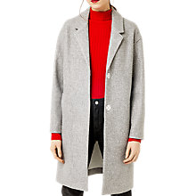 Buy Warehouse Knit Back Single Breasted Coat, Light Grey Online at johnlewis.com