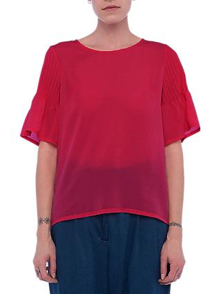 French Connection Classic Crepe Top, Magenta Haze
