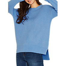 Buy Oasis Long Length Crew Jumper, Light Blue Online at johnlewis.com