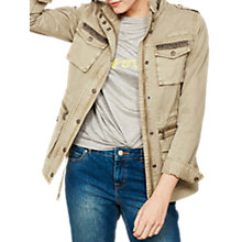 Buy Mint Velvet Embellished Utility Jacket, Light Green Online at johnlewis.com