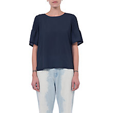 Buy French Connection Classic Flute Sleeve Top, Nocturnal Online at johnlewis.com