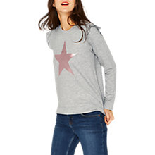Buy Oasis Star Placement Sweatshirt, Pale Grey Online at johnlewis.com