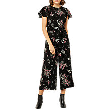 Buy Warehouse Marianne Floral Print Jumpsuit, Multi Online at johnlewis.com