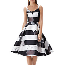 Buy Coast Alpina Floral Stripe Dress Petite, Monochrome Online at johnlewis.com