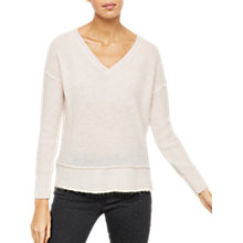 Buy Mint Velvet Raw Seam Detail Jumper, Petal Online at johnlewis.com
