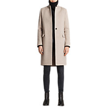 Buy AllSaints Evelyn Comet Coat, Oatmeal Brown Online at johnlewis.com