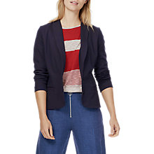 Buy Brora Tailored Jersey Jacket, French Navy Online at johnlewis.com