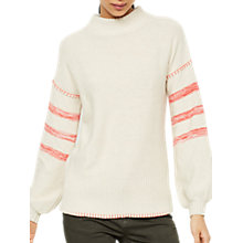 Buy Mint Velvet Broken Stripe Knit Jumper, Stone Online at johnlewis.com