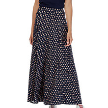 Buy Brora Liberty Print Maxi Skirt, Navy Bird Online at johnlewis.com