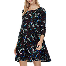 Buy Brora Liberty Jersey Swing Dress, Black Online at johnlewis.com