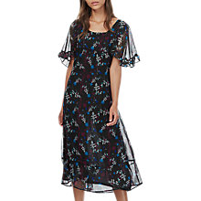 Buy Brora Liberty Print Silk Dress, Black Online at johnlewis.com