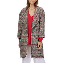 Buy Brora Chevron Textured Jacket, Charcoal/Scarlet Online at johnlewis.com